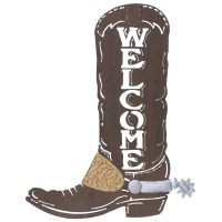 Cowboy Boot Welcome Sign