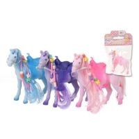 3 Pack Flocked Horses