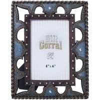Leather and Blue Stones Frame