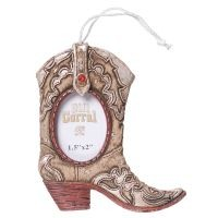 Cowboy Boot Frame Ornament