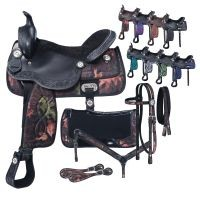 Eclipse by Tough 1 Pro Trail Saddle 7 Piece Package in Fun Prints