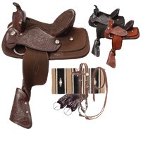 Eclipse by Tough 1 Blaze Pony Saddle 5 Piece Package
