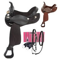 Eclipse by Tough 1 Round Skirt Trail Saddle  5 Piece Package