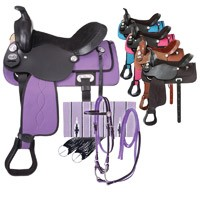 Eclipse by Tough 1 Pony Trail Saddle 5 Piece Package