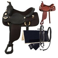 Eclipse by Tough 1 Golden Trail Saddle 5 Piece Package