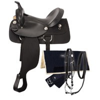 Eclipse by Tough 1 Gaited Trail Saddle 5 Piece Package