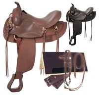 Eclipse by Tough 1 Round Skirt Gaited Saddle 5 Piece Package