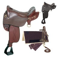 Eclipse by Tough 1 Endurance Saddle Without Horn 5 Piece Package