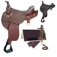 Eclipse by Tough 1 Wide Tree Endurance Saddle with Horn 5 Piece Package