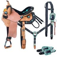 Cheyenne Belt Buckle Bling Collection 5 Piece Saddle Package