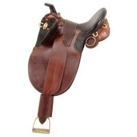 Australian Outrider Collection Stock Poley Saddle w/ Horn Wide Tree