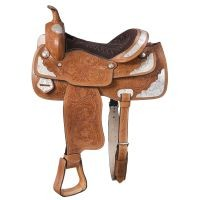 McCoy Trail Saddle with Silver Accents