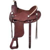 San Marcos Rancher Suede Seat Saddle Package