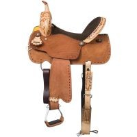 Reno Youth Buckstitch Roughout Barrel Saddle