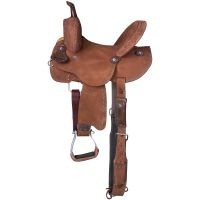 Medina Youth Buckstitch  Roughout Barrel Saddle
