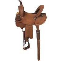 Branson Youth Buckstitch Roughout Barrel Saddle