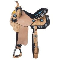 Cheyenne Belt Buckle Bling Barrel Saddle