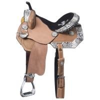 Greyson Belt Buckle Bling Barrel Saddle